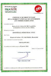 Certificat NM